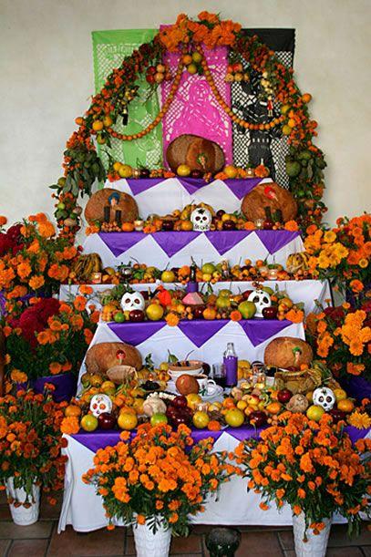 Dia de los Muertos altar - Ofrenda, Oaxaca Mexico