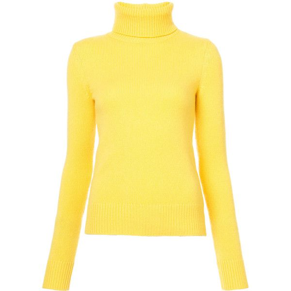 Ralph Lauren Collection Roll Neck Jumper ($913) ❤ liked on Polyvore featuring tops, sweaters, ralph lauren collection, roll neck top, yellow cashmere sweater, yellow sweater and yellow jumper