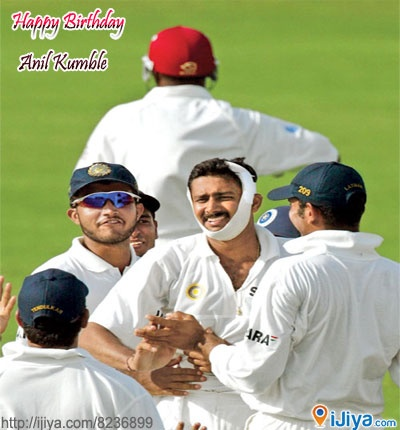 "Happy Birthday to Indian Legend Cricketer ""Anil Kumble""    Birth Place @ http://ijiya.com/8236899"