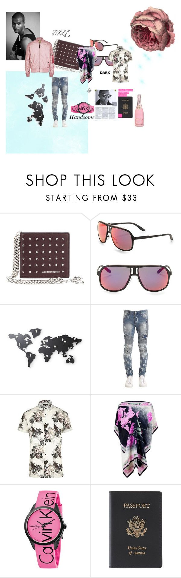"""""""Tall,Dark, & Handsome"""" by mikewatts ❤ liked on Polyvore featuring Alexander McQueen, Carrera, Umbra, Represent, River Island, Calvin Klein, Royce Leather, Alpha Industries, men's fashion and menswear"""