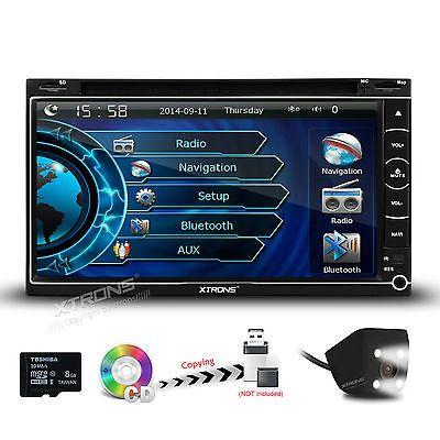 GPS Navigation System 2 DIN Dash Car Radio Stereo CD DVD Video MP3 Backup Camera
