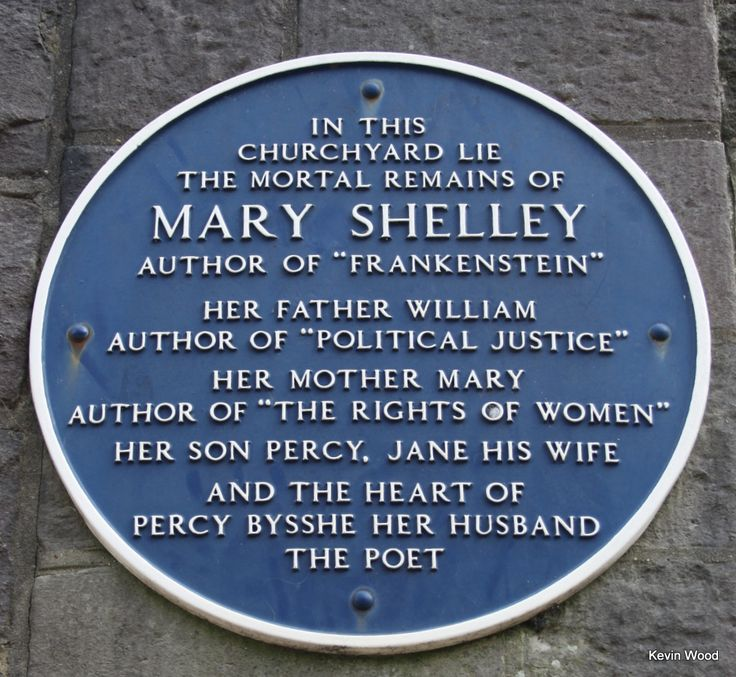 """Not a Derbyshire blue plaque but I found it in Bournemouth. Mary Shelly author of  """"Frankenstein"""""""