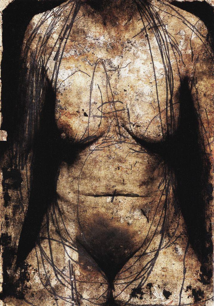 Nicola Samori, Subderma (I.V.L.), 2006. Materiali: olio su acetato su carta