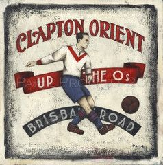 Released during the playoffs this season 2014 for Leyton Orient fans Up The O's by Paine Proffitt available as original art or ltd edition prints from £65