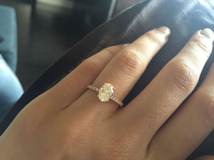 1 carat oval diamond | rose gold