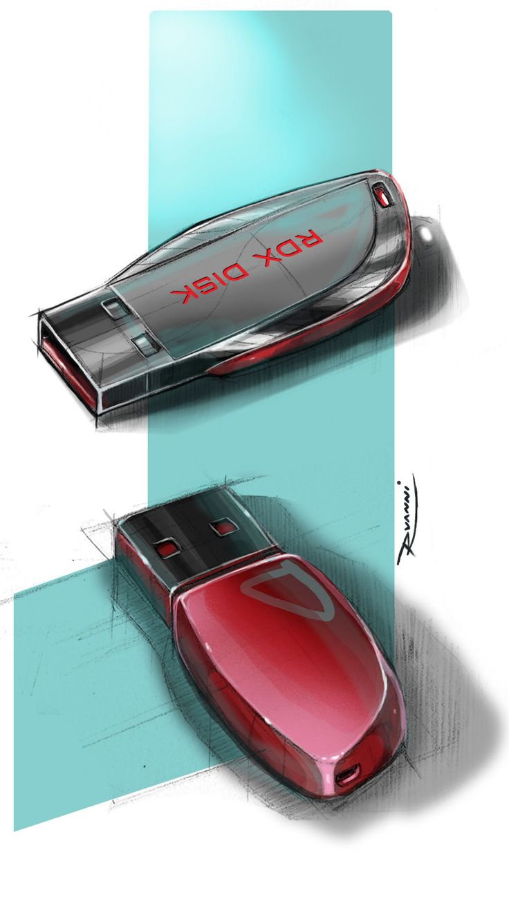 Pendrive digital sketch not thrilled with design but like the background style
