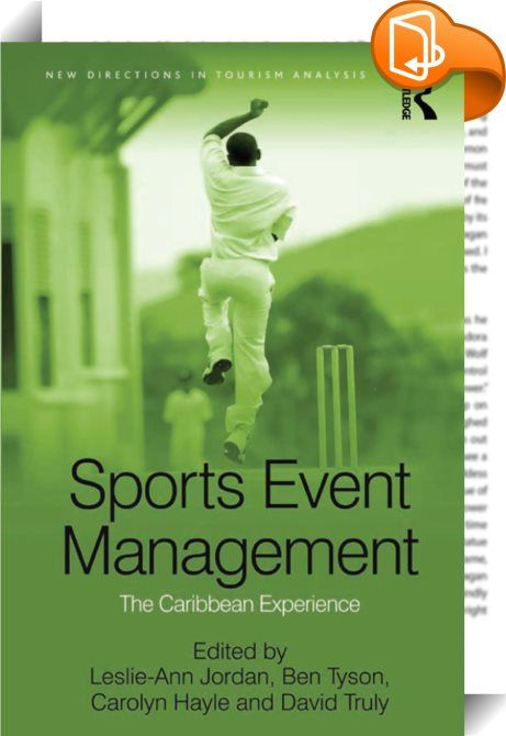 Sports Event Management    :  Exploring sports event management from a Caribbean, small island developing state perspective, this volume uses the events of the recently held Cricket World Cup 2007 (CWC 2007) as a launching pad for identifying best practices and the way forward. The CWC 2007 was the first time in any sport, a World Cup was staged in nine independent countries. None of the Caribbean territories hosting a match has a population larger than Jamaica's 3.4 million; most have...