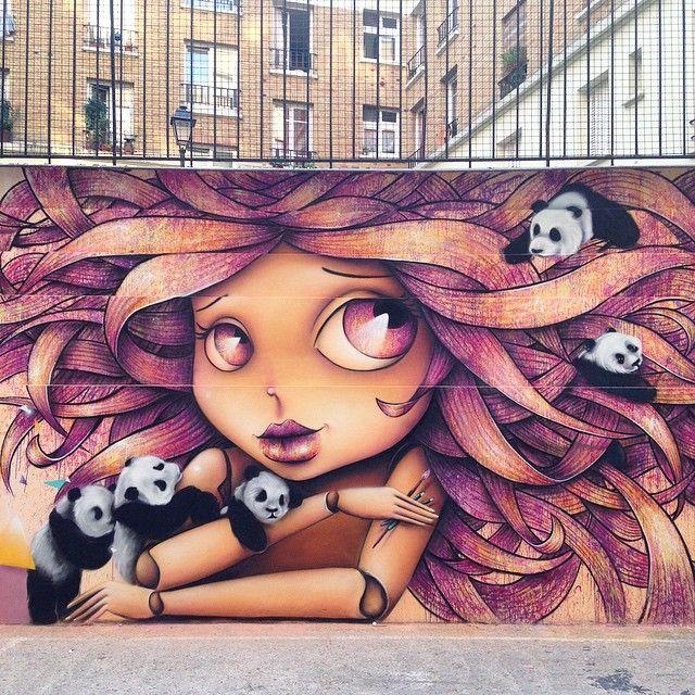 Enamorados del encantador arte urbano de Vinie Graffiti