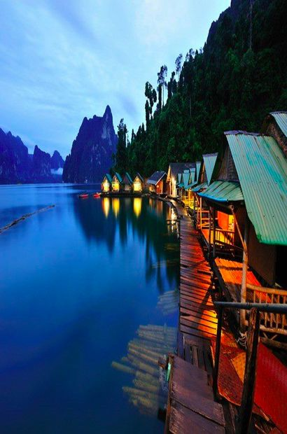 Elephant Hills camp at Khao Sok National forest, Thailand. Floating luxury tents, Personal Kayak, Lake at your doorstep, waking up to the sound of gibbons. Best vacation ever. #glamping #nature