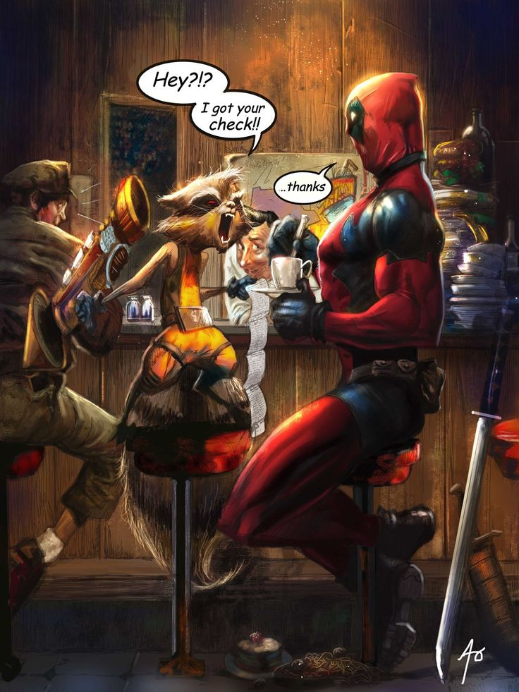 Deadpool and Rocket Raccoon by Adam Pollina and Rudy Ao *