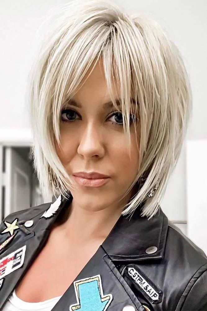 Choppy Style #bob #bangs #wispybangs Want to go for stylish wispy bangs Our short, soft fringes for long hair, shoulder length bob with layers and thi...