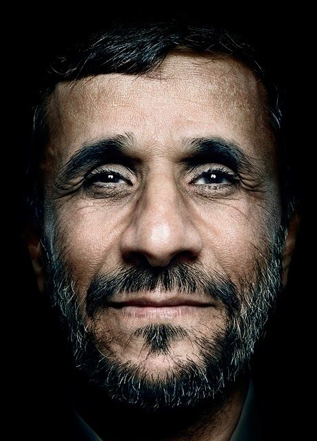 Iranian President Mahmoud Ahmadinejad in a portrait by Platon Antoniou.  #Portraits