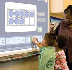 High assistive technology. This is a smart board and in the high tech category. It's pretty high tech, but can be useful for a student with ADHD to get their attention and give them hands on learning and something to interact with.