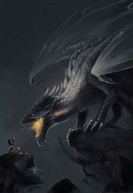 The black dragon that hatches after Rosa finds it -Still wip-