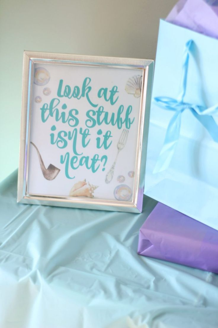 Every little detail of this Little Mermaid party is precious and perfect!