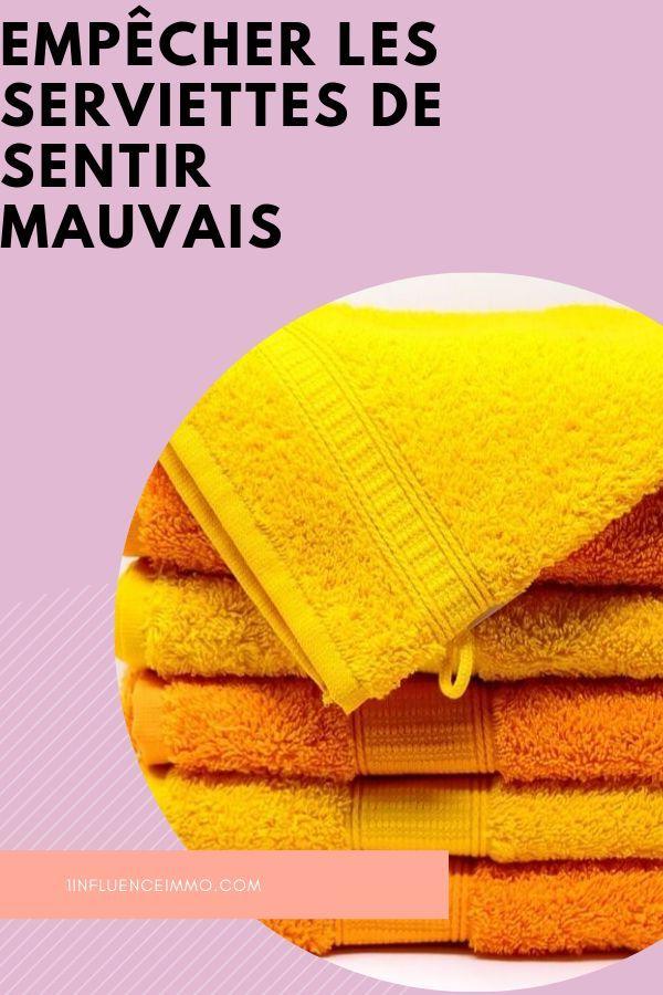 Le secret pour empêcher les serviettes de sentir mauvais de suite
