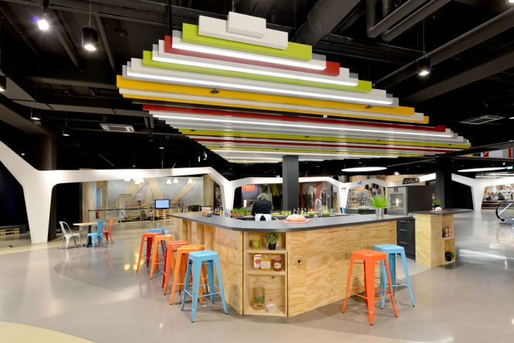 Open Space by kplus konzept, Cologne Germany pallet food
