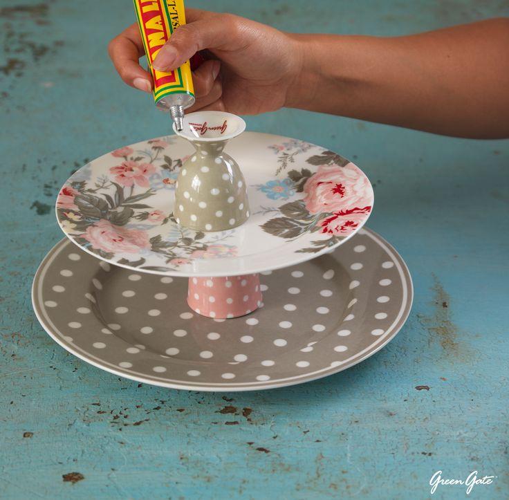 Deko Idee! Wie mache ich eine Etagere selbst ;-) und kostet nicht viel !