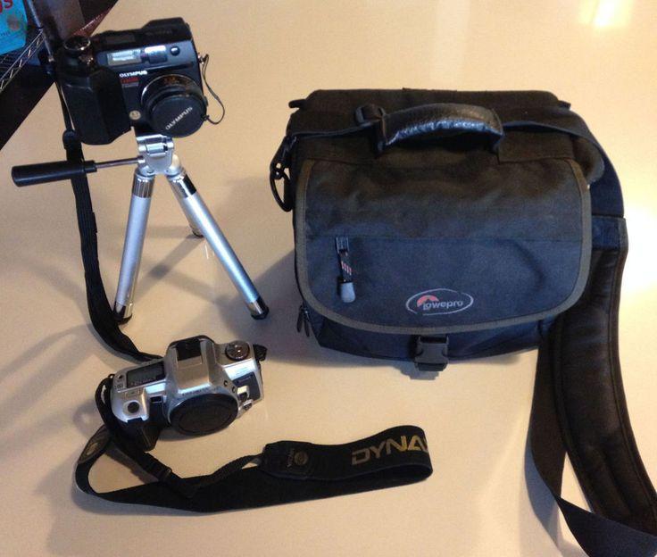 MINOLTA DYNAX 505si SUPER SLR CAMERA BODY, OLYMPUS DIGITAL, TRIPOD, LOWEPRO BAG #Olympus