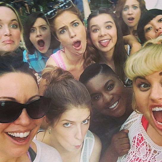 "Brittany shared a ""scary selfie"" of the group on the Pitch Perfect 2 set."