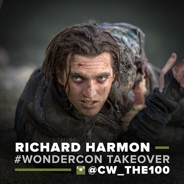 Calling all fans of #The100! @richardsharmon is taking over this account and taking you with him to #WonderCon today!