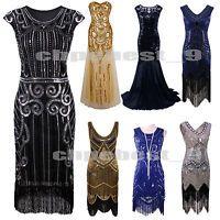 1920's Flapper Dress Gatsby Charleston Sequin Fringe Vintage 20s Party Plus Size