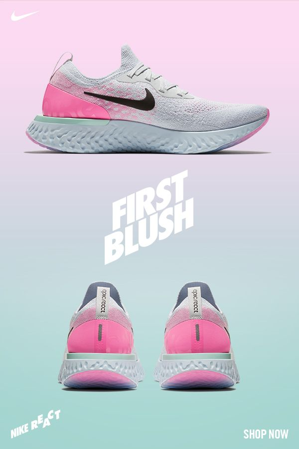 af8b694bb5bc Go with the glow in the all-new Nike Epic React First Blush.