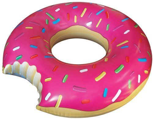 Big Mouth Donut Pool Water Tube Float Inflatable Floating Lounge Chair Suntanner   eBay