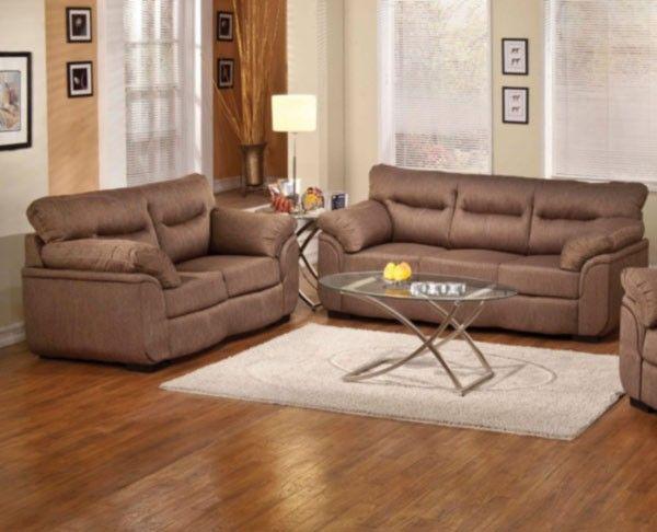 Acme Furniture - Avalon 2 Piece Modern Sofa Set in Cocoa - 51690-S+L