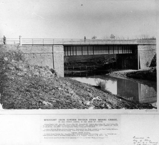 Bridge over Merri Creek Bell St (opened 1880)
