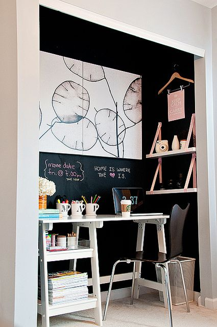 Office/Work Stations for small spaces. Awesome blog and ideas by Jen Jones.