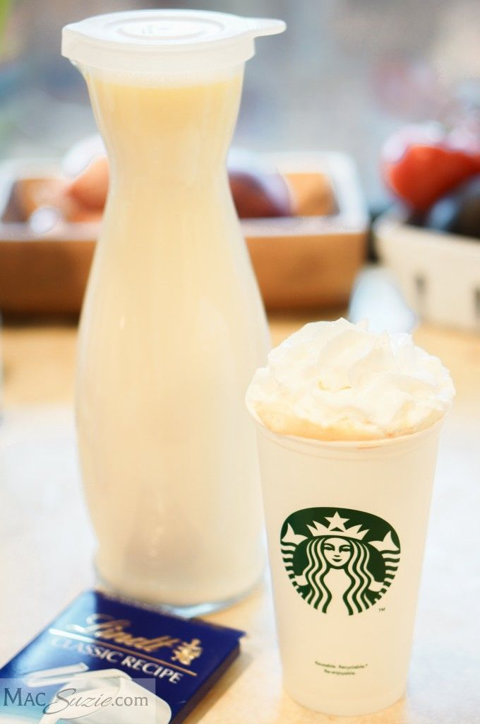 MacSuzie | DIY White Chocolate Mocha Mix - This recipe will save you TONS because you can skip the line at Starbucks and make it in your own kitchen :)