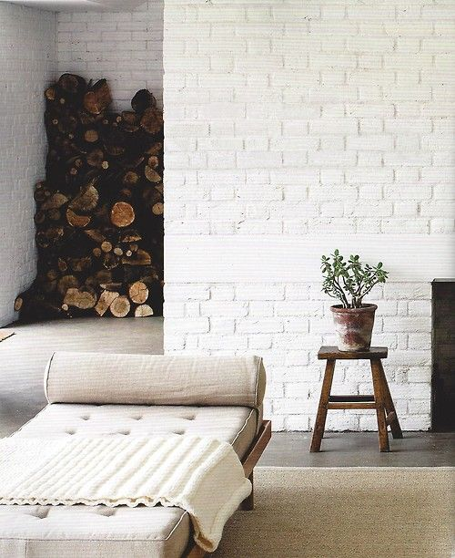 : Decor, De Provence, Chai Lounges, Warm Modern, Beaches House, Brick Wall, Rustic Design, Firewood Nooks, White Brick