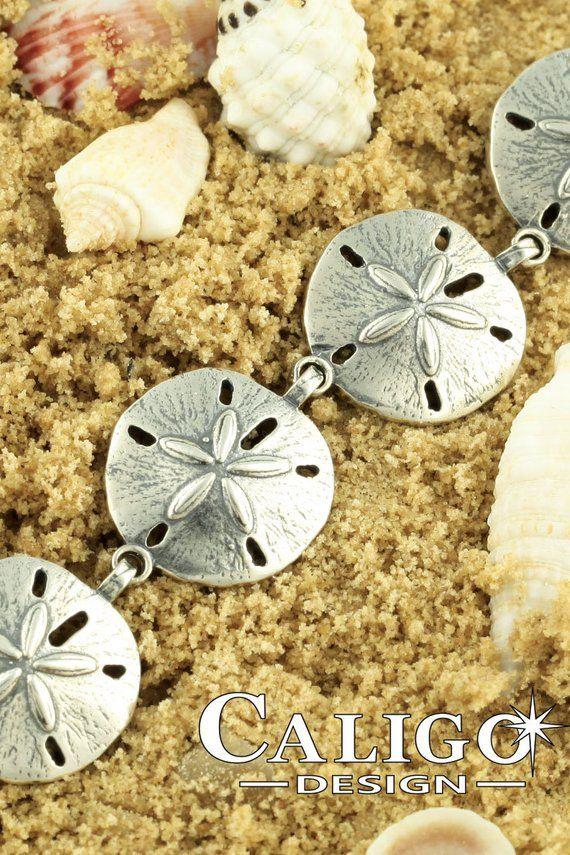 2093692ef05 Sand Dollar Link Bracelet - Sterling Silver - ETSY Ocean Jewelry by Caligo  Design - #SandDollar #BeachBracelet #OceanJewelry #Beachart #SeaLife  #OceanArt ...