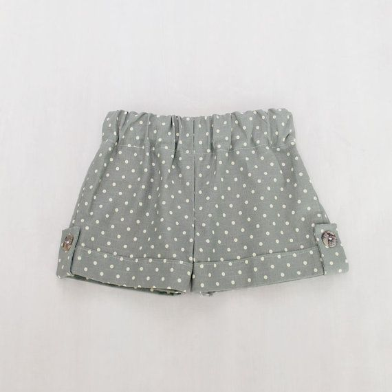 The Fold and Flap Short    Truly a classic when it comes to girls shorts. But the best part is that you can make these with your choice of