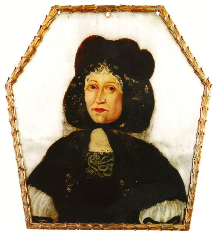 Coffin portrait of Anna Bronikowska née Dziembowska of Pomian coat of arms (1636-1680) by Anonymous Polish Painter, ca. 1680 (PD-art/old), Muzeum w Międzyrzeczu
