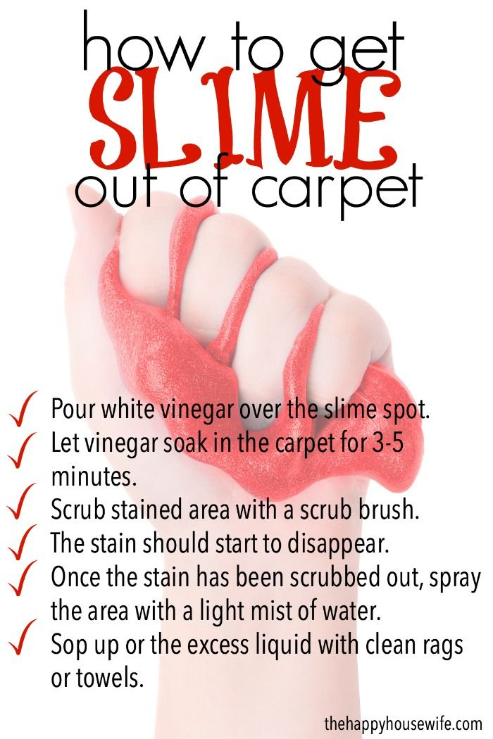 How To Get Slime Out Of Carpet Cleaning And Organizing Your Home