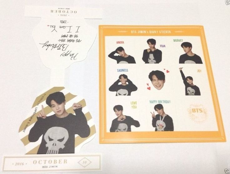 K-Pop BTS 2016 Season's Greeting Jimin 1 Sticker + 1 Pop-up KPOP Bangtan Boys