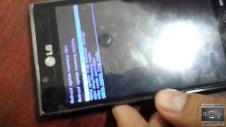 LG Optimus L5 L7 P708 - P708g desbloqueo * HARD RESET o FLASH * wipe - YouTube