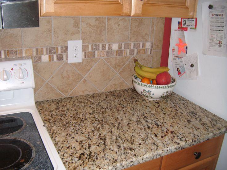 Santa Cecilia Granite with Tile Backsplash - Charlotte, NC… | Flickr