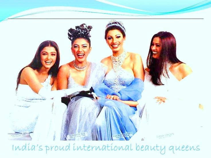 From left - Aishwarya [Miss World 1994] Sushmita [Miss Universe 1994] Yukta [Miss World 1999]  Diana [Miss world 1997]