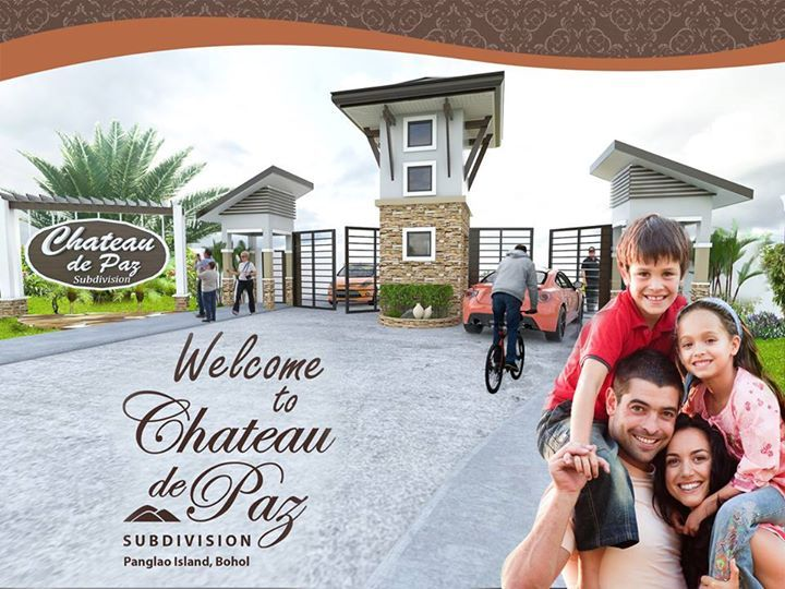 Chateau de Paz Subdivision is a 3.4 hectare fully-gated development which features 120 quality and elegantly designed houses with Modern Asian Architectural Designs.  It is nestled on the hilltop of Koinonia Hill with vantage view of Tagbilaran City and Maribijoc Bay.