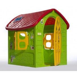 ARIGOhouse 89,00€ ARIGOhouse Maisonnette de la petite abeille en plastique haute densité, équipée de 2 fenêtres d'un hublot et d'une porte sur la façade principale. Mixte Dimensions : 113x111x120 cm Composants: Polypropylène coloré en masse Entièrement recyclable Poids : 12 kg