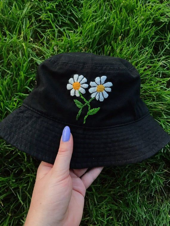 Custom Embroidered Bucket Hat Etsy In 2020 Bucket Hat Fashion Embroidered Clothes Outfits With Hats
