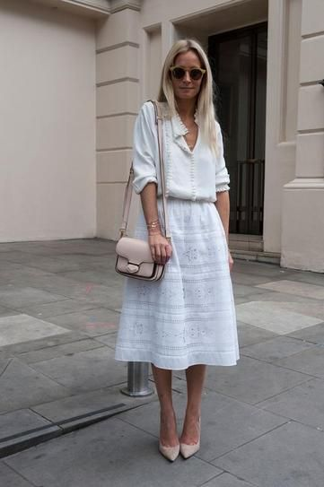 street style - london Scrumptious shades of white.
