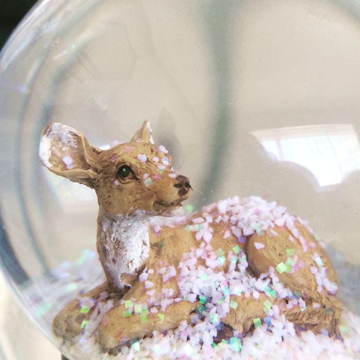 Deer Snow Globe