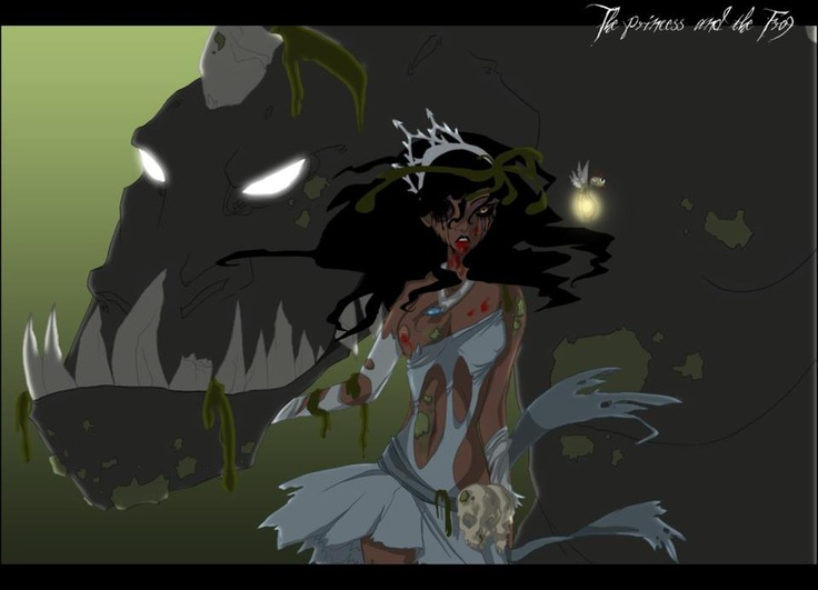 Twisted Disney Princess.  Princess and the Frog.