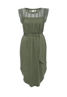 Платье, Gap, цвет: зеленый. Артикул: GA020EWNQS93. Женская одежда / Платья и сарафаны / Летние платья