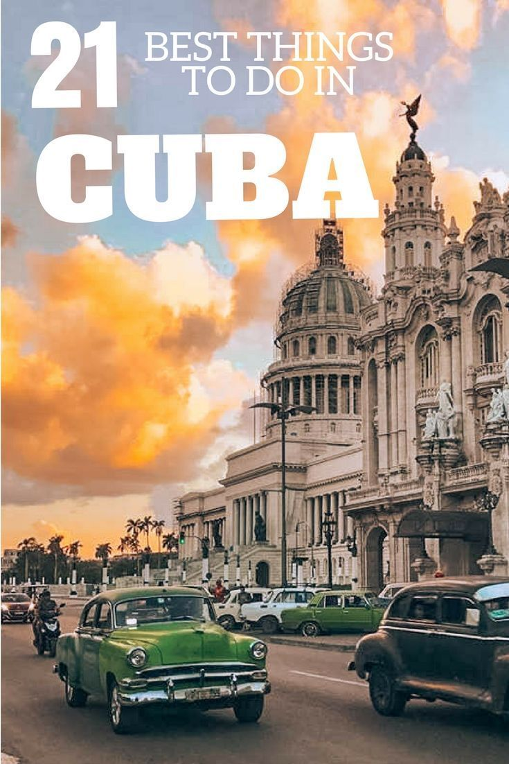 Find out the 21 best things you need to do on your trip to Cuba! From Havana to Vinales, Trinidad to Santa Clara, this ultimate Cuba bucket list covers all the most awesome things to do in this beautiful Caribbean island. #cuba #bestofcuba #visitcuba