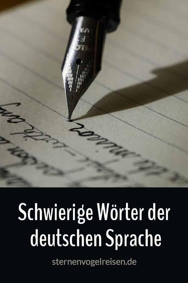 Liste Der Schwierigsten Wörter Der Deutschen Sprache